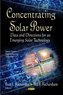 Cover image for Concentrating solar power : data and directions for an emerging solar technology