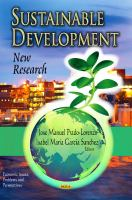 Cover image for Sustainable development : new research