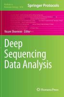 Cover image for Deep sequencing data analysis