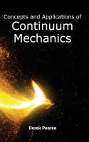 Cover image for Concepts and applications of continuum mechanics