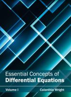 Cover image for Essential concepts of differential equations