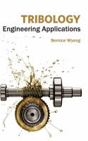 Cover image for Tribology : engineering applications