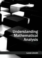 Cover image for Understanding mathematical analysis