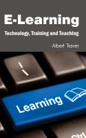 Cover image for E-learning : technology, training and teaching