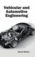 Cover image for Vehicular and automotive engineering