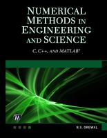 Cover image for NUMERICAL METHODS IN ENGINEERING AND SCIENCE : C, C++, and Matlab