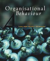 Cover image for Organisational behaviour