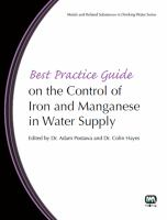 Cover image for Best practice guide on the control of iron and manganese in water supply