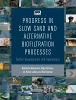 Cover image for Progress in slow sand and alternative biofiltration processes further developments and applications