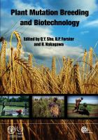 Cover image for Plant mutation breeding and biotechnology