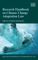 Cover image for Research handbook on climate change adaptation law