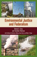 Cover image for Environmental justice and federalism