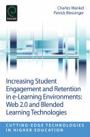 Cover image for Increasing student engagement and retention in e-learning environments: Web 2.0 and blended learning technologies
