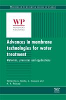 Cover image for Advances in membrane technologies for water treatment : materials, processes and applications
