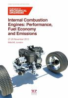 Cover image for Internal combustion engines : performance, fuel economy and emissions
