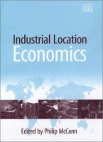 Cover image for Industrial location economics