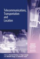 Cover image for Telecommunications transportation and location