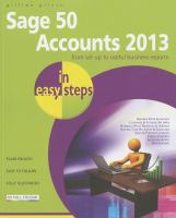 Cover image for Sage 50 accounts 2013 : in easy steps