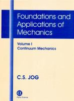 Cover image for Foundations and applications of mechanics : continuum mechanics