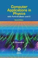 Cover image for Computer applications in physics with FORTRAN, BASIC and C