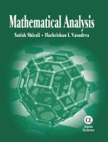 Cover image for Mathematical analysis