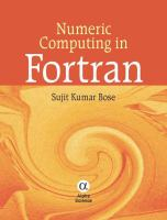 Cover image for Numeric computing in fortran