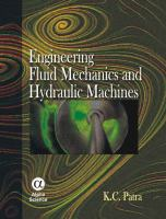Cover image for Engineering fluid mechanics and hydraulic machines