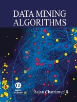 Cover image for Data mining algorithms