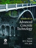 Cover image for Handbook on advanced concrete technology