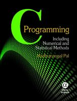 Cover image for C programming : including numerical and statistical methods