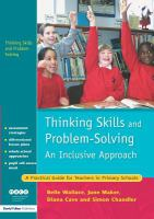 Cover image for Thinking skills and problem-solving : an inclusive approach : a practical guide for teachers in primary  schools