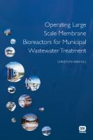 Cover image for Operating large scale membrane bioreactors for municipal wastewater treatment