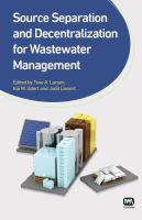 Cover image for Source separation and decentralization for wastewater management
