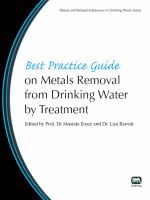 Cover image for Best practice guide on metals removal from drinking water by treatment