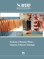 Cover image for Disinfection of wastewater effluent : comparison of alternative technologies