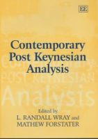Cover image for Contemporary post Keynesian analysis