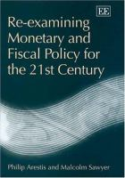 Cover image for Re-examining monetary and fiscal policy for the 21st century