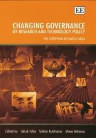 Cover image for Changing governance of research and technology policy : the European research area