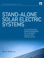 Cover image for Stand-alone solar electric systems : the Earthscan expert handbook for planning, design, and installation