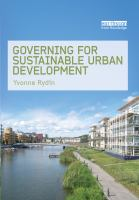 Cover image for Governing for sustainable urban development
