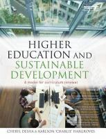 Cover image for Higher education and sustainable development : a model for curriculum renewal