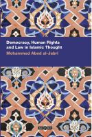 Cover image for Democracy, human rights and law in Islamic thought
