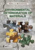 Cover image for Environmental deterioration of materials