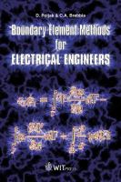 Cover image for Boundary element methods for electrical engineers