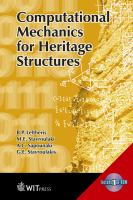 Cover image for Computational mechanics for heritage structures