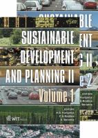 Cover image for Sustainable planning and development II