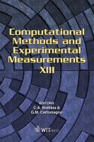 Cover image for Computational methods and experimental measurements XIII