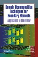Cover image for Domain decomposition techniques for boundary elements : application to fluid flow