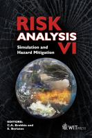 Cover image for Risk analysis VI : simulation and hazard mitigation