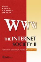 Cover image for The Internet society II : advances in education, commerce & governance